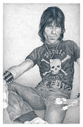 Rock Drawings - Cozy Powell by Liz Molnar