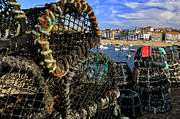 Crab Traps Photos - Crab Traps - St. Ives by Terry Scussel