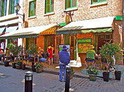 Montreal Restaurants Digital Art - Crepes et Fondues in Old Montreal-QC by Ruth Hager