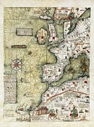 Northern Africa Prints - Cresquesjafuda 1350-1410 Print by Everett