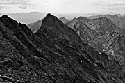 Greyscale Prints - Crestone Needle from Crestone Peak Print by Aaron Spong