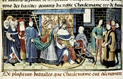 Middle Ages Prints - Crowning Of Charlemagne 800 Print by Everett