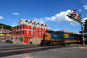 Liquor Store Prints - CSX Diesel Train at Cumberland Print by James Brunker