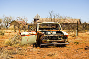 Horror Cars Photos - Cuervo New Mexico Ghost Town 4 by Deborah Smolinske