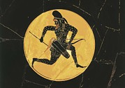 Archaic Prints - Cup Depicting A Persian Archer. 6th C Print by Everett