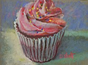Donna Shortt Painting Posters - Cup of Cake Poster by Donna Shortt