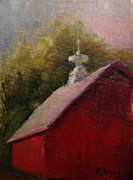 Old Barn Paintings - Cupola by Katherine Seger