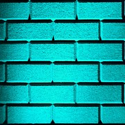 Featured Art - Cyan Wall by Semmick Photo