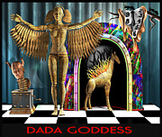 Clock Hands Digital Art Posters - DADA Goddess Poster by Stuart Swartz