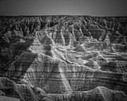 Layers Digital Art Prints - Dakota Badlands Print by Perry Webster