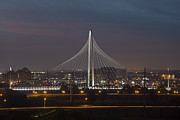 Dallas Skyline Metal Prints - Dallas Skyline Images - Margaret Hunt Hill Bridge Metal Print by Rob Greebon