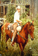 Portrait With Mountain Framed Prints - Dan Fogelberg Riding by the Old Schoolhouse Framed Print by Anastasia  Ealy