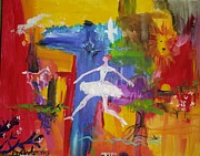 Prophetic Art Painting Originals - Dance for Jesus by Paula Stacy Adams