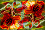 Color Symbolism Prints - Dancing Flowers Print by Omaste Witkowski