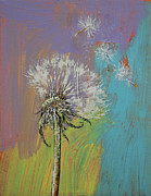 Dandelion Paintings - Dandelion by Michael Creese
