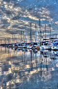 Yacht Photos - Dappled Clouds by Heidi Smith
