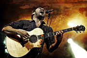 Live Music Metal Prints - Dave Matthews Scream Metal Print by The  Vault - Jennifer Rondinelli Reilly