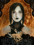 Eerie Painting Metal Prints - Day Of The Dead 2 Metal Print by Luis  Navarro