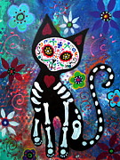Pristine Cartera Turkus - Day of the Dead Cat