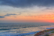 Lajolla Metal Prints - Deep Orange California Sunset Metal Print by Deborah Smolinske
