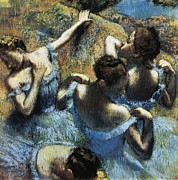 Ballet Dancers Photo Posters - Degas, Edgar 1834-1917. Blue Dancers Poster by Everett