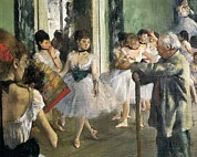 Teachings Metal Prints - Degas, Edgar 1834-1917. The Dancing Metal Print by Everett