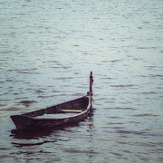 Wooden Boat Photos - Delapidated Boat by Joana Kruse