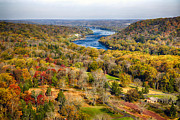 Hunterdon County Posters - Delaware River Valley Fall Scenic Poster by George Oze