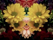 Zinnias Digital Art - Delightful Bouquet by Pamela Briggs-Luther