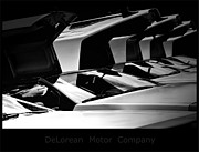 Delorean Posters - DeLorean Poster by Martin Angus