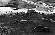 Demolition Derby Posters - Demolition Derby rain storm clouds Tucson Arizona 1968 Poster by David Lee Guss