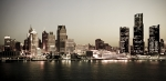 Urban Photos - Detroit Skyline at Night by Levin Rodriguez