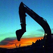 Overtime Photos - Digging Sunset by Barbie Corbett-Newmin
