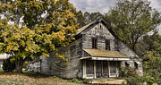Farm Houses Posters - Dilapidated Poster by Heather Applegate