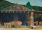 Fruit Stand Paintings - Dinchers Roadside by Denise Wagner