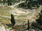 Ancient Greek Ruins Prints - Dionysus Amphitheater Print by Ellen Henneke