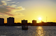 Steven Brennan Prints - Dockland Sunset Print by Steven Brennan