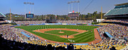 Batter Framed Prints - Dodger Stadium Panorama Framed Print by Eddie Yerkish