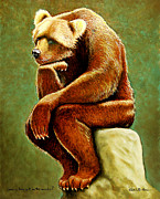 Sit Framed Prints - Does A Bear Set In The Woods? Framed Print by Will Bullas