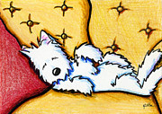 Dog Napped Print by Kim Niles