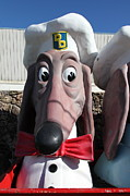 Wingsdomain Art and Photography - Doggie Diner Dog - Red Bow Tie - 5D20934
