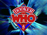 Ferret Digital Art - Dooker Who Logo by Brian Dearth