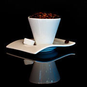 Coffee Beans Photos - Double Espresso by Constance Fein Harding