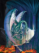 Dragon Posters - Dragon Lair With Stairs Poster by The Dragon Chronicles - Robin Ko