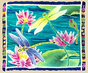 Dragonfly Painting Originals - Dragonfly Dance by Harriet Peck Taylor