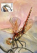 Alfred Ng - Dragonfly Painting With Stamp