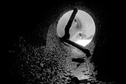 Emerge Prints - Drain Pipe - Artist Self Portrait Print by Gary Heller