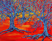 Tree Roots Paintings - Dream Forest by RK Hammock