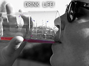 Romilly Posters - Drink Life Poster by Rebecca Dru