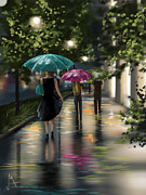 Rain Digital Art - Drizzle by Veronica Minozzi